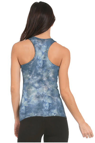 Crystal Wash Chambray Organic Cotton Yoga Tank