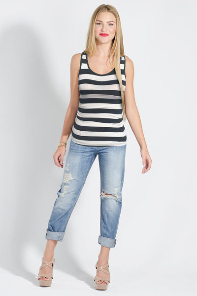 Luxe Soft Striped Tank