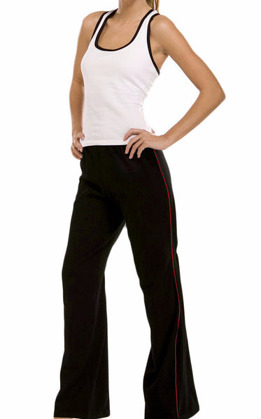Wide Leg Jersey Workout Pant