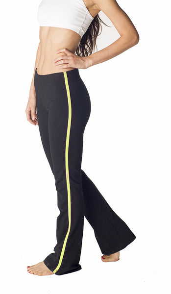 Contrast Stripe Combed Cotton Yoga Pants - Intouch Clothing - 1