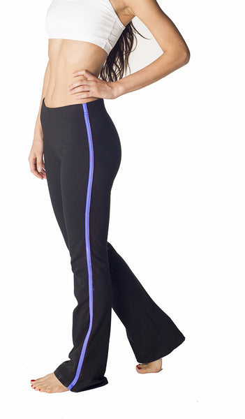 Contrast Stripe Combed Cotton Yoga Pants - Intouch Clothing - 5
