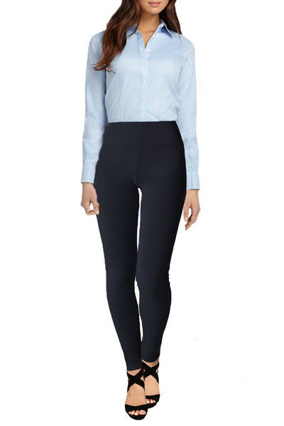 High Waist Cotton Stretch Office Legging