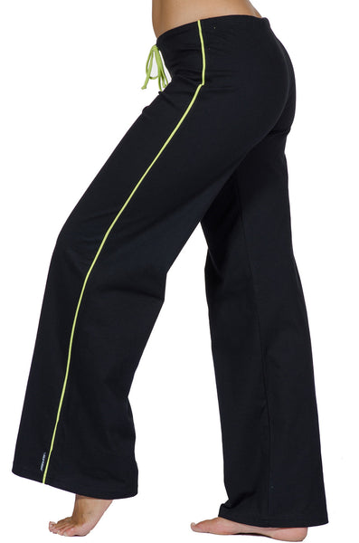 Contrast Stripe Flare Jersey Workout Pant - Intouch Clothing - 3