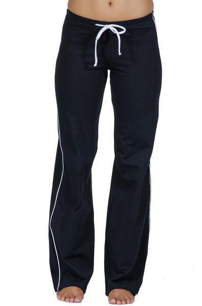 Contrast Stripe Flare Jersey Workout Pant - Intouch Clothing - 1