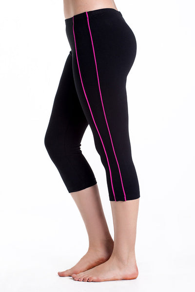 Contrast Stripe Spandex Sport Capris - Intouch Clothing - 2