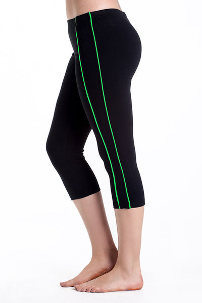 Contrast Stripe Spandex Sport Capris - Intouch Clothing - 4