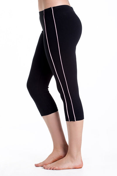 Contrast Stripe Spandex Sport Capris - Intouch Clothing - 8
