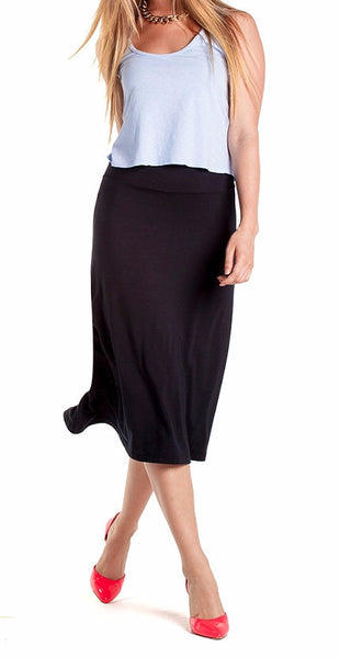 Bamboo Midi Skirt - Intouch Clothing - 1