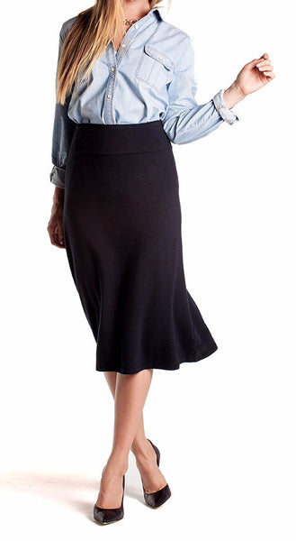 Bamboo Midi Skirt - Intouch Clothing - 2