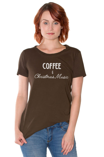 Coffee & Christmas Music Organic Cotton Tee