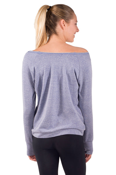 Wide Neck French Terry Sweatshirt - Intouch Clothing - 3