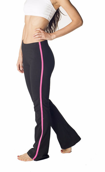 Contrast Stripe Combed Cotton Yoga Pants - Intouch Clothing - 2