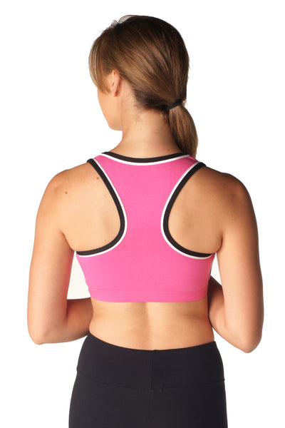 Women's Two-Tone Racer Back Bra Top - Intouch Clothing - 7