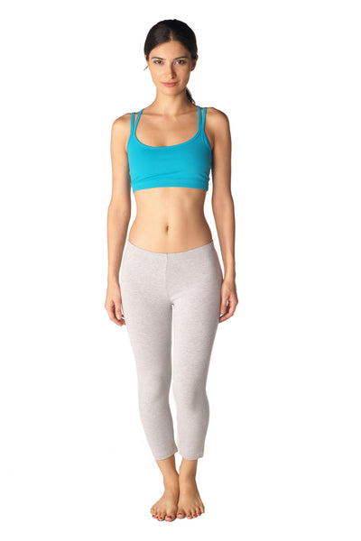 Cotton Spandex Capri Legging - Intouch Clothing - 2