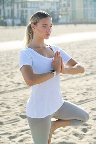 Natural Organic Yoga Tops - Undyed and Allergen Free