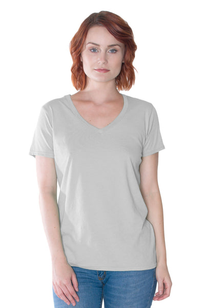 Dove V-Neck Tee in Organic Cotton