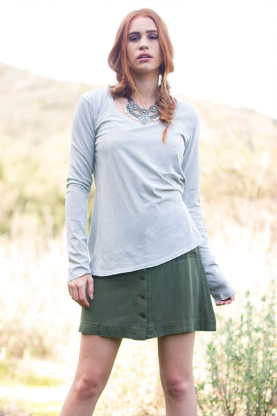 Alouette Long Sleeve Crew in Organic Cotton