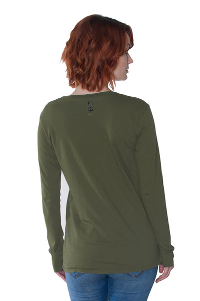 PEACE COLLECTION Alouette Long Sleeve Crew in Organic Cotton