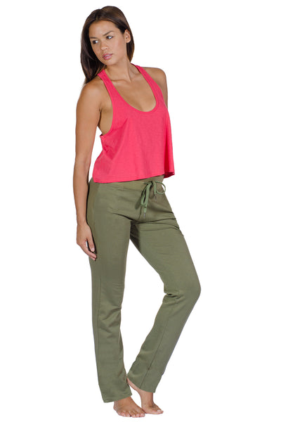 Drawstring Cotton Stretch Yoga Pant