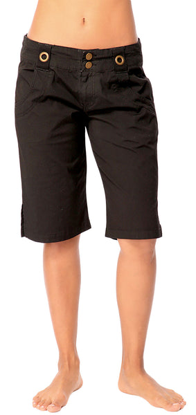 Wide Leg Poplin Pocket Shorts - Intouch Clothing - 1