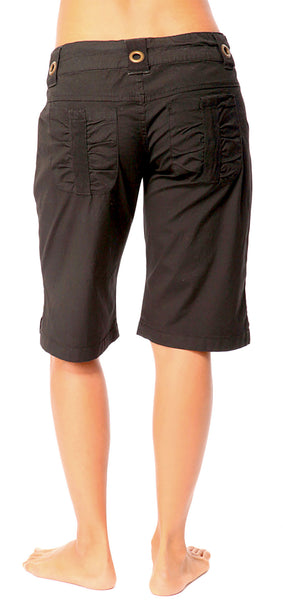 Wide Leg Poplin Pocket Shorts - Intouch Clothing - 2