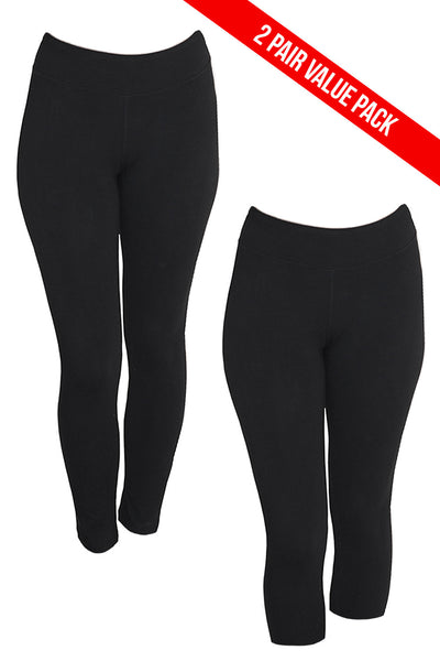 2 Pack Organic Legging and Capri Combo