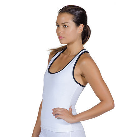 Two-Tone Yogini Racer Back Tank Top