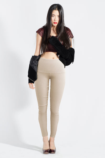 High Waist Ribbed Legging