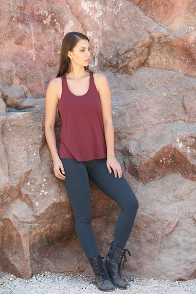 Finch Racer Back Tank in Organic Cotton