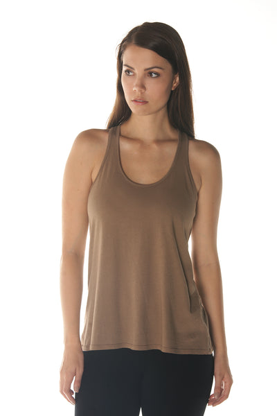 Finch Racer Back Tank in Organic Cotton & Recycled Plastic