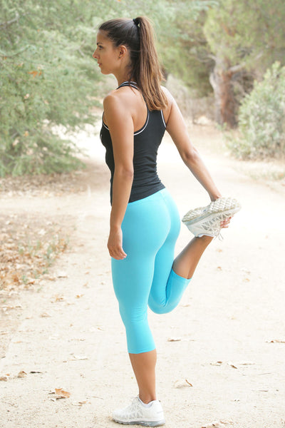 Cotton Spandex Capri Legging - Intouch Clothing - 1