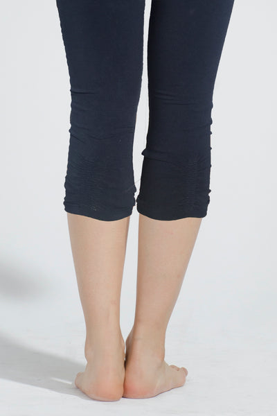 Organic Cotton Spandex Ruched Capri