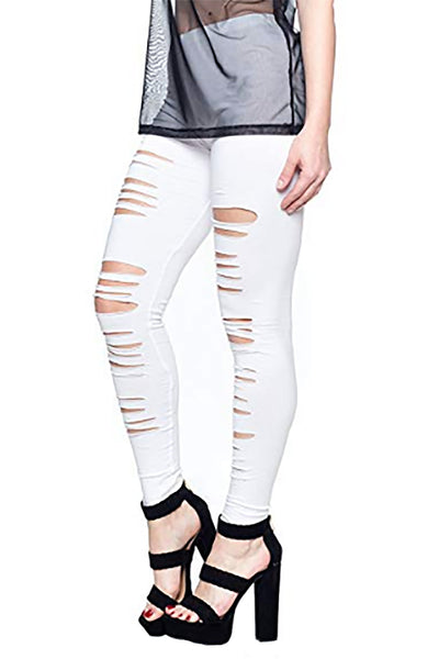Ripped Cotton Legging
