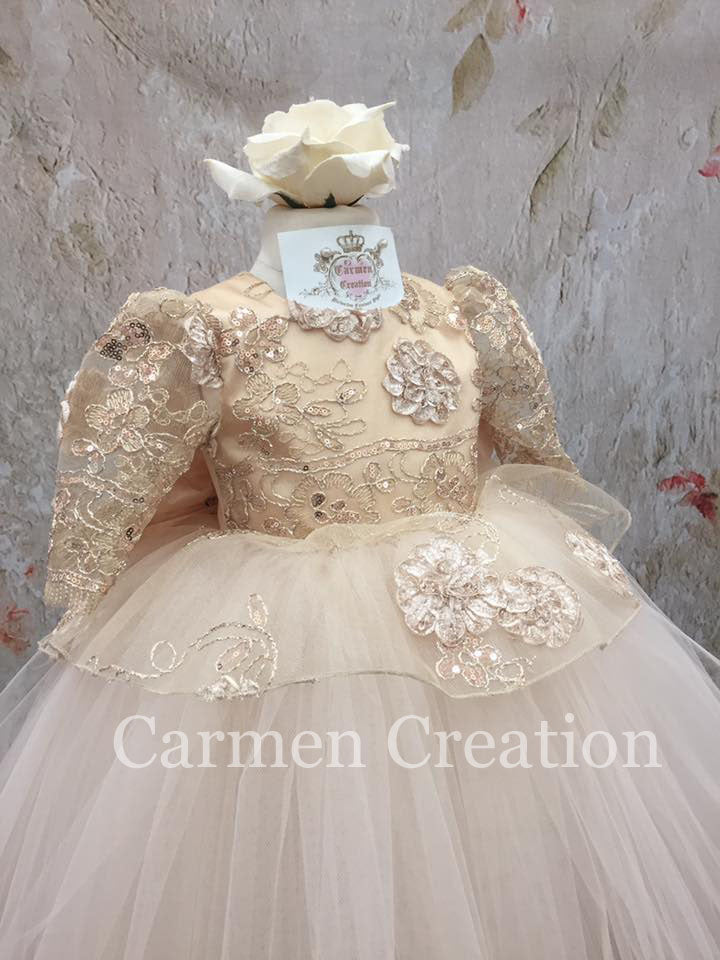 Madeline Dress Champagne