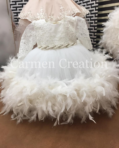 Baptism Feather Edge Dress