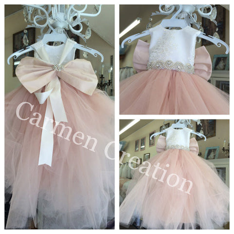 Mini Bride Flower Girl Dress 1001