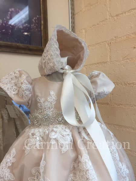 Florence Christening Gown Blush