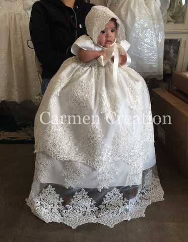 Florence Christening Gown off-white