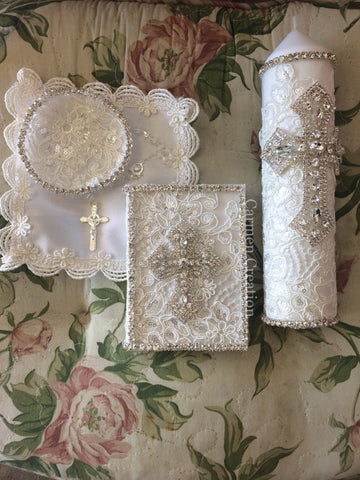 Light Ivory Baptism Set