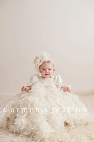 Victorian Feather Christening Gown