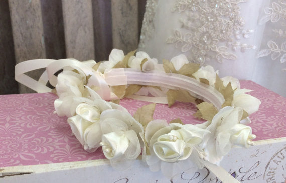 Flower Crown Ivory