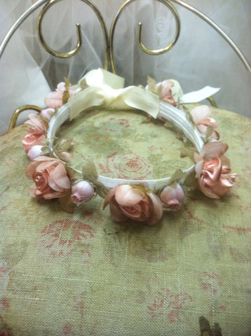 Couture Blush Pink Headband/Hallow for Flower Girl