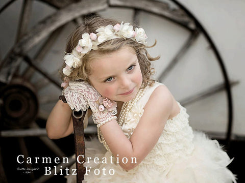 Vintage Flower Girl Accessories Set
