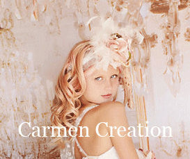 Dream Mini Bride Flower Girl Feather Headpiece
