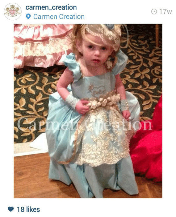 Baby Marie Antoinette Couture Dress Tiffany
