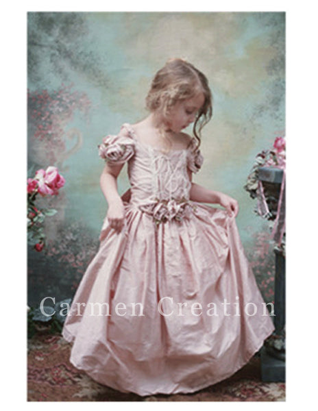 Victorian Couture Dress Blush