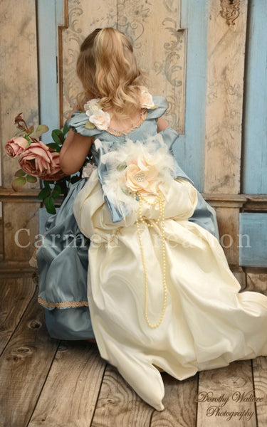 Dusty Blue Princess Renaissance Dress