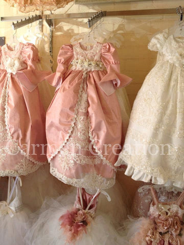 Victorian Christening Gown Blush