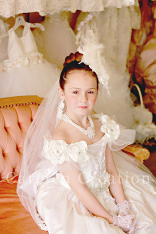 Silk Couture Princess Communion Dress