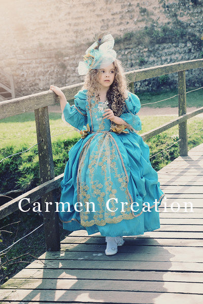 Royal Blue Marie Antoinette Renaissance Dress